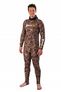 Maskovací Oblek MARES Top RASHGUARD CAMO BROWN - Triko - Spearfishing a FreeDiving 6 - XL
